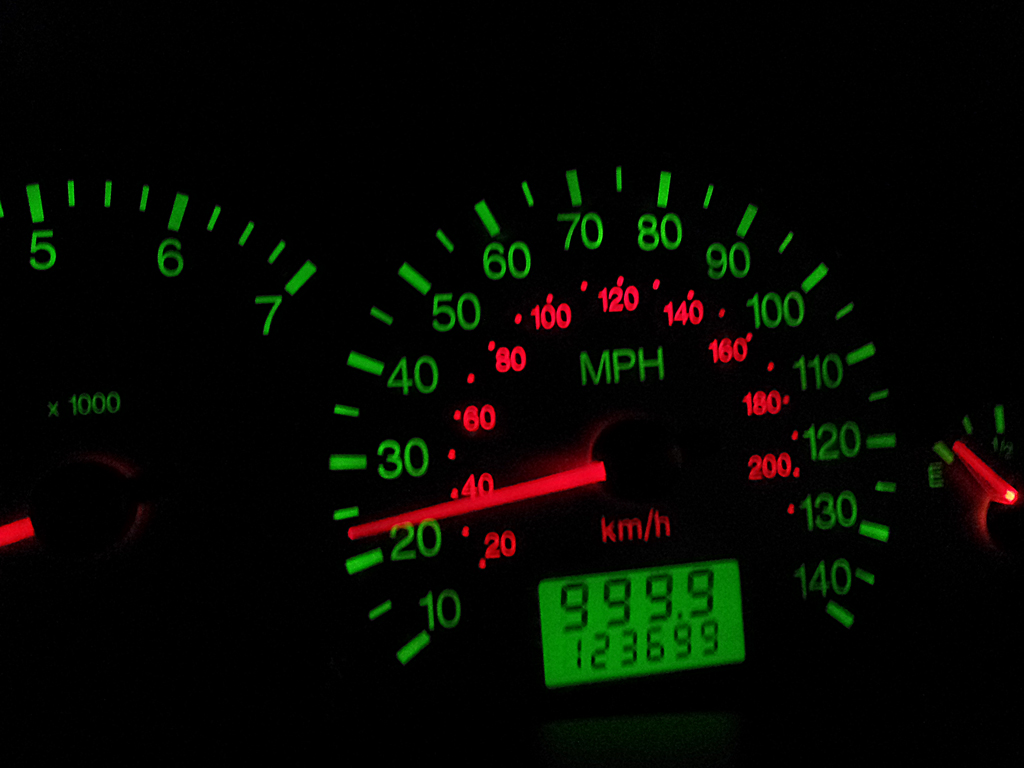car speedometer and odometer